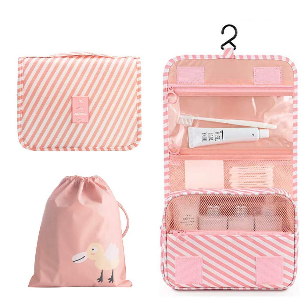 OrgaWise Trousse de Toilette Femme Pliable /Étanche Portable Trousse de Toilette Multifonction Envoyer Un Joli Petit Sac