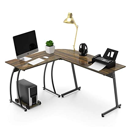 Excellent L Shaped Corner Computer Desk 59 X 51 Home Office Desks 3 Piece Corner Laptop Table With Free Cpu Stand 2 Sides Switch Home Interior And Landscaping Transignezvosmurscom