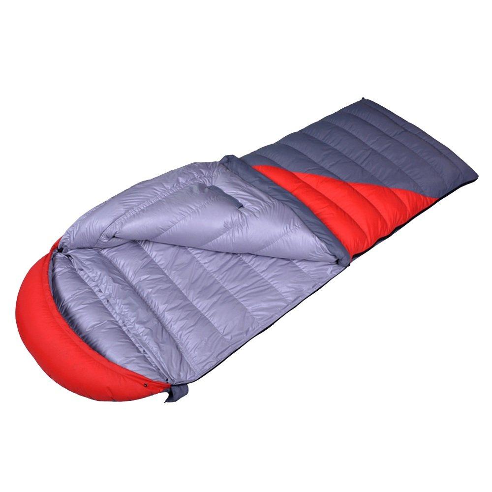 LVZAIXI 大人に適した寝袋、防水性、バックパック、旅行、キャンプ、ハイキング、アウトドアアクティビティに適し、圧縮袋付き (色 : 赤) B07D35VXK7 赤 赤