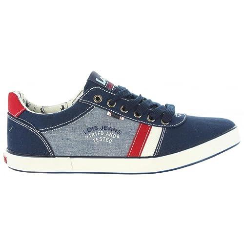 LOIS JEANS Deportivas de Hombre 61003 107 Marino: Amazon.es: Zapatos y complementos