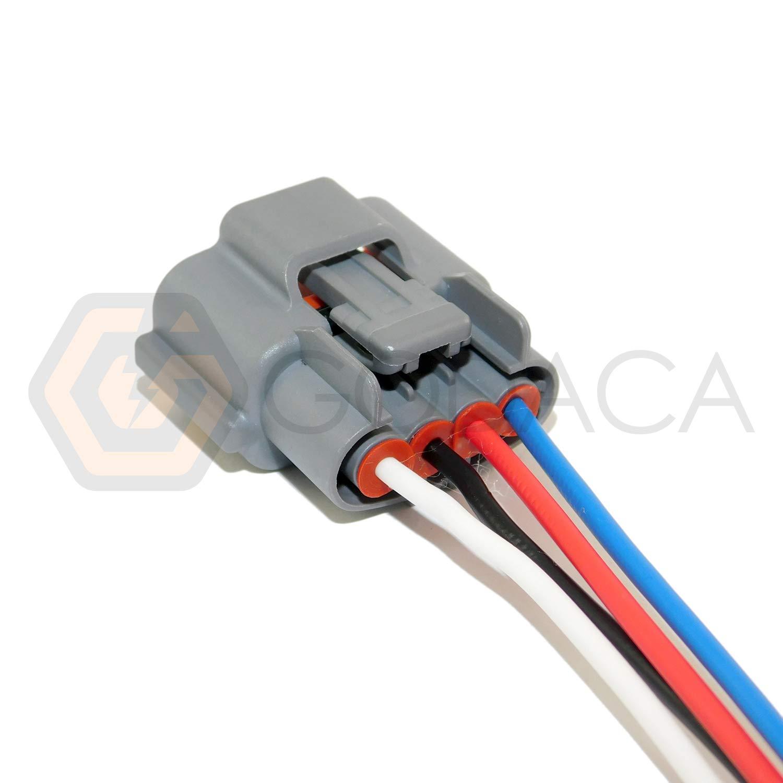 1x Connector 4 Way Pin For Alternator Nissan 23100 Subaru Plug Wiring 9y500 Automotive