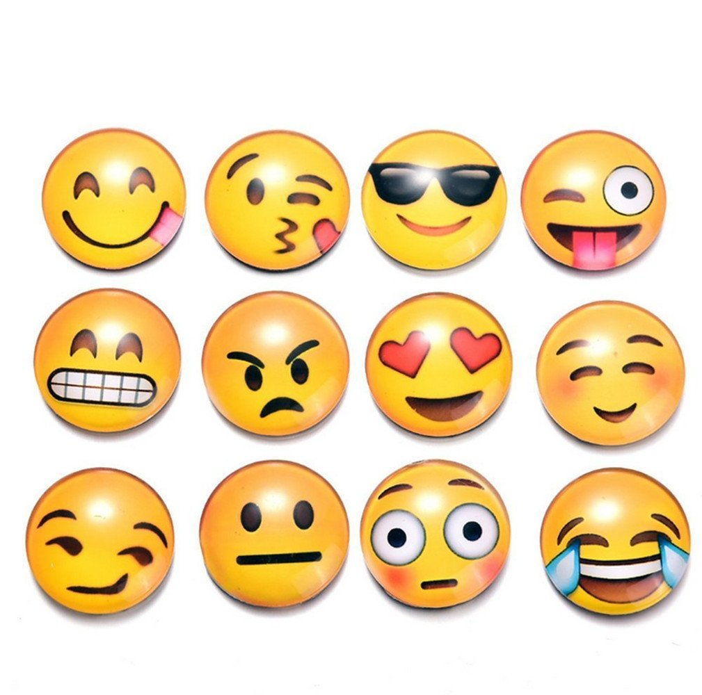 Aibily 12 Pack Emoji Faces Fridge Emoji Magnet Stickers
