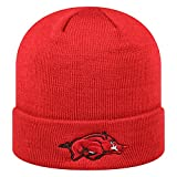 Arkansas Razorbacks Official NCAA Cuffed Knit Tow Beanie Stocking Stretch Sock Hat Cap by Top of the World 933368