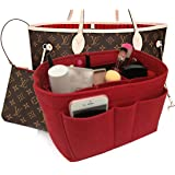 39e8e721c6d84 Felt Insert Fabric Purse Organizer Bag, Bag Insert In Bag with Zipper Inner  Pocket Fits