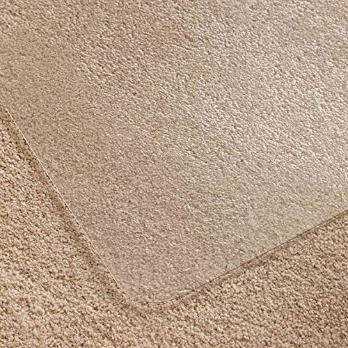 - Cleartex Ultimat Corner Workstation Chair Mat, Clear Polycarbonate, For Low & Medium Pile Carpets (up to 1/2