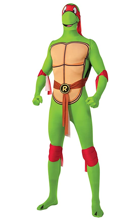 Rubies Costume Mens Raphael 2Nd Skin Adult Costume with Removable Shell