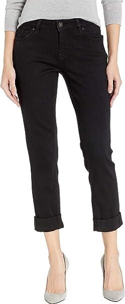 c8fdb408fb3c Jag Jeans Women s Carter Girlfriend Crosshatch Denim in Mid Vintage Black  Void 12 30