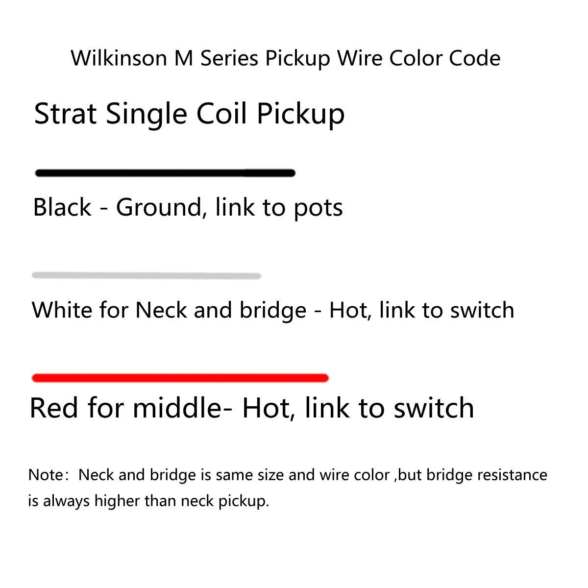 bianco Wilkinson Pickup single coil Alono V vintage tono su tono per chitarra stile Strat