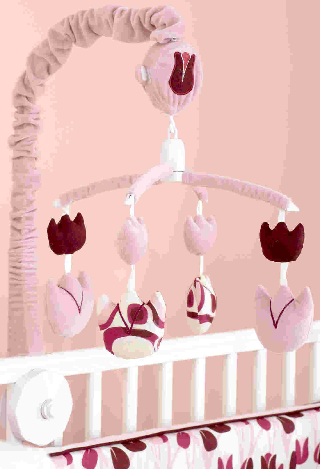 Beansprout Talullah Mobile, Pink/Maroon (Discontinued by Manufacturer)