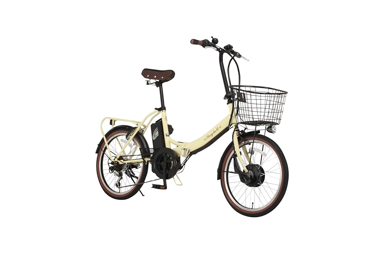 Raychell(レイチェル) 20インチ 折りたたみ 電動自転車 FB-206R-EA 6段変速 グリップシフト フロントLEDライト [メーカー保証1年] B06W54NH3D アイボリー アイボリー