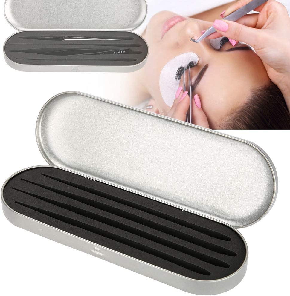 Tinplate High Quality Tweezers Case for Organizer Convenient to Carry Storage Box