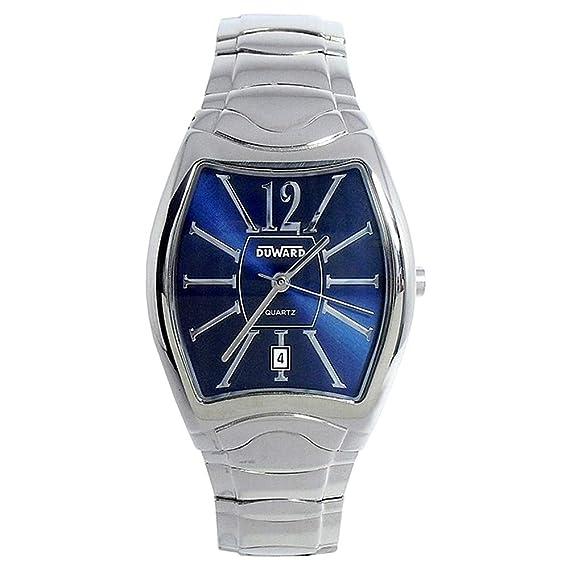DUWARD Reloj para Hombre Analógico Cuarzo con Correa de Acero Inoxidable D9408615: Amazon.es: Relojes