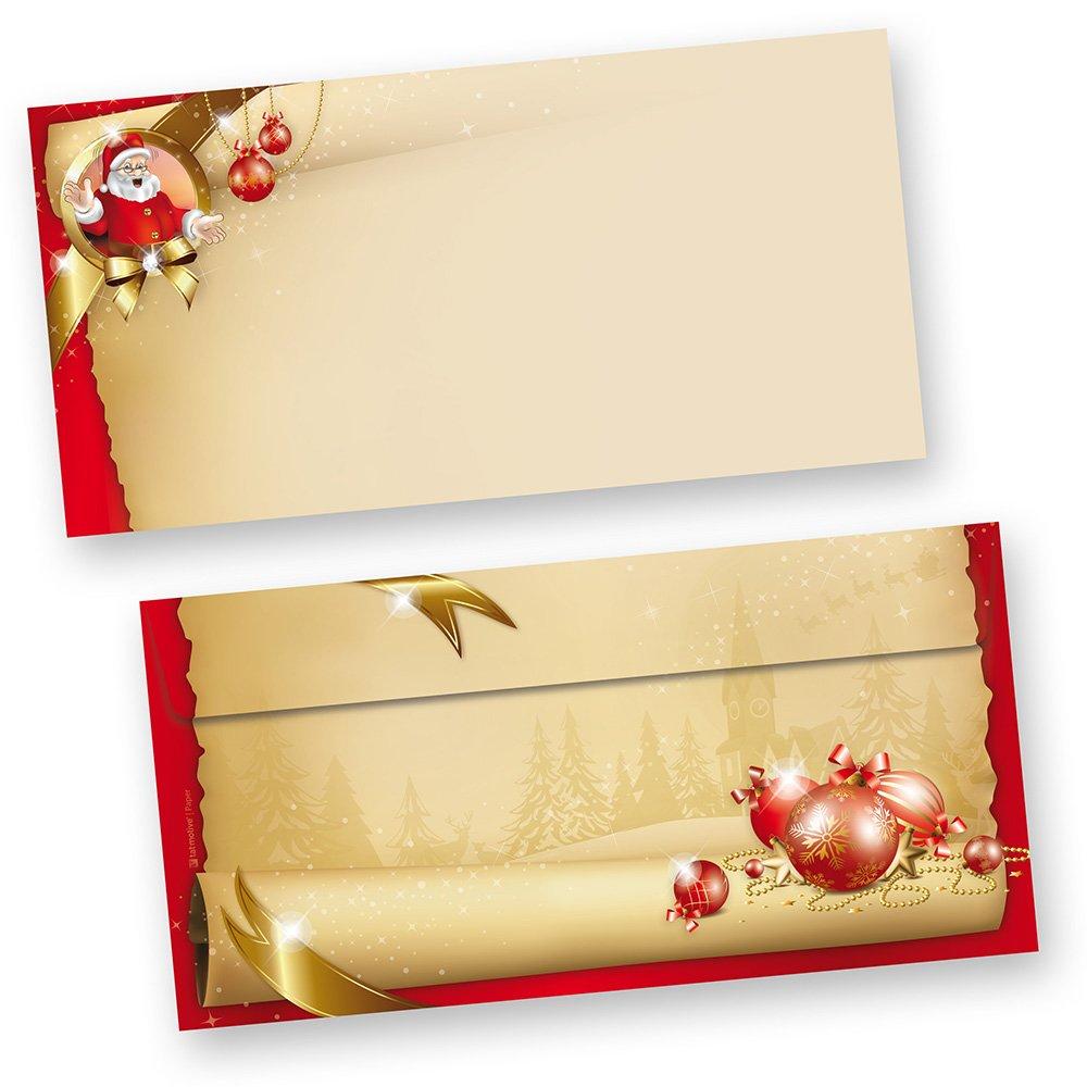 Briefumschläge Weihnachten Santa Claus 1000 Stück DIN lang ohne Fenster stimmungsvolle Umschläge für Briefe und Einladungen, beidseitig bedruckt B00NNVTHO8   Sehr gelobt und vom Publikum der Verbraucher geschätzt