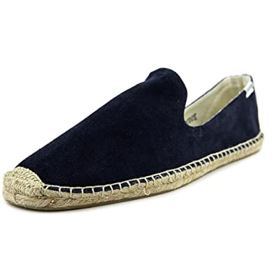The Most Popular Soludos Smoking Slipper Round Toe Suede Espadrille Blue For Men On Sale