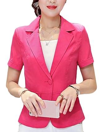 EKU FASHION - Chaqueta de Traje - para Mujer Rojo Rosso XXS ...
