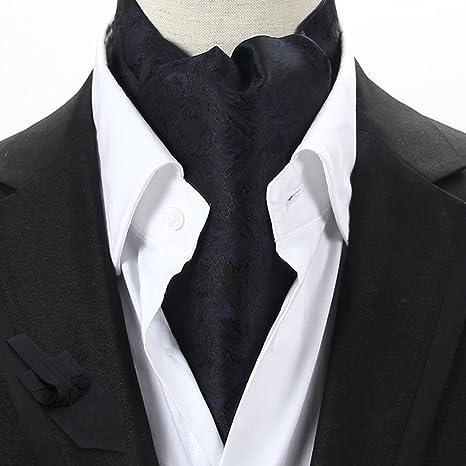LIXIONG Seda de los Hombres Corbata Bufanda Doble Cara Camisa ...