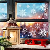 152pcs Winter Christmas Static White Snowflake Decoration Decal Window Clings