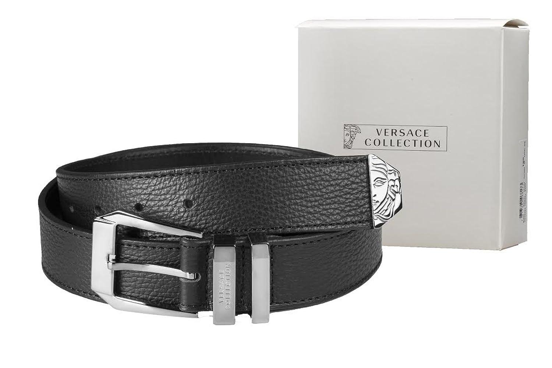 a4d229f28e Amazon.com: Versace Collection Men's Texturd Leather Belt (44 US/110 ...