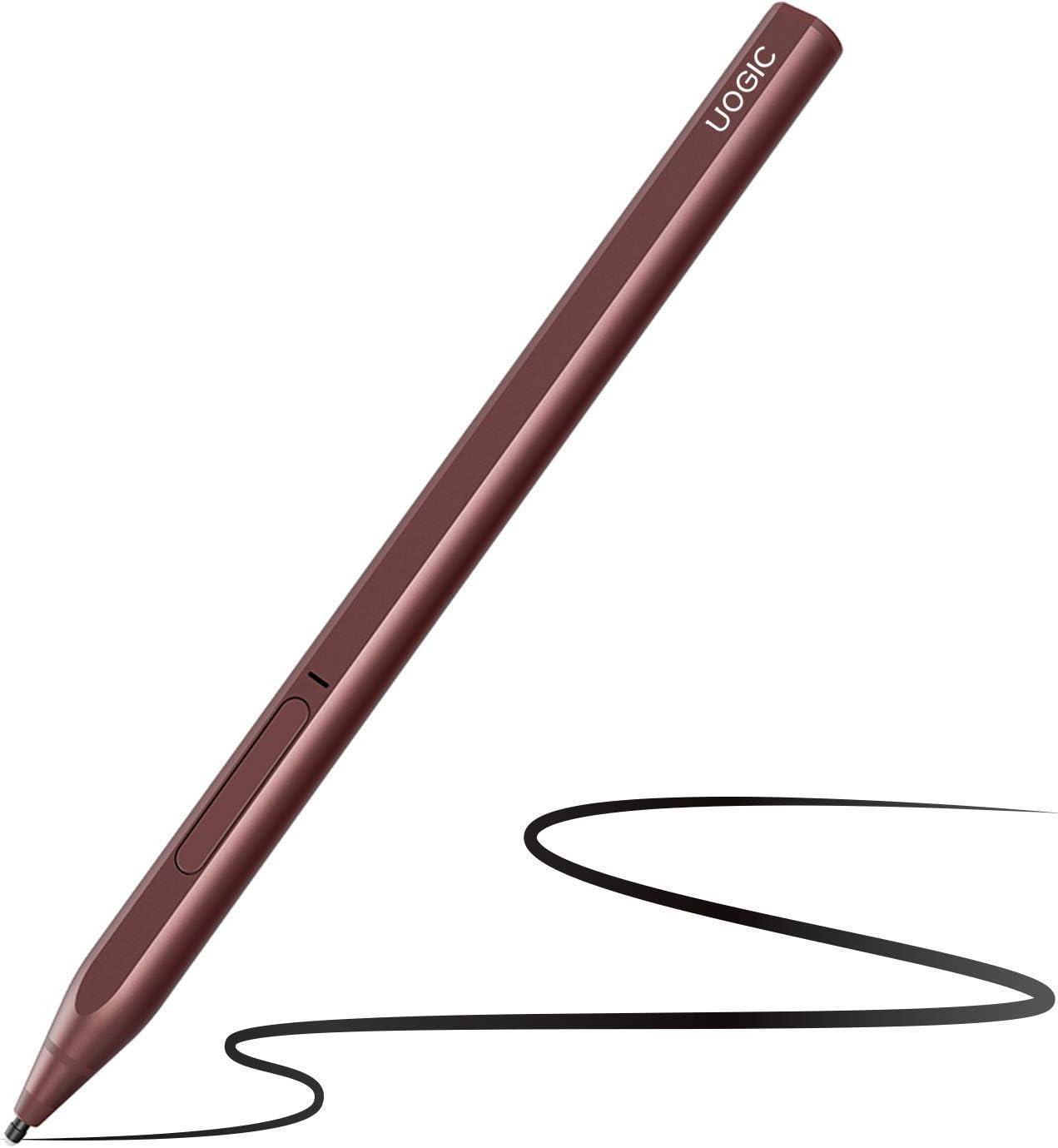 Uogic Pen for Microsoft Surface, Ink 581 Magnetic Stylus Pen, 4096 Pressure Sensitivity, Tilt & Palm Rejection, Flex & Soft HB Tip, for Surface Pro/Go/Book/Studio/Laptop Series, Rechargeable