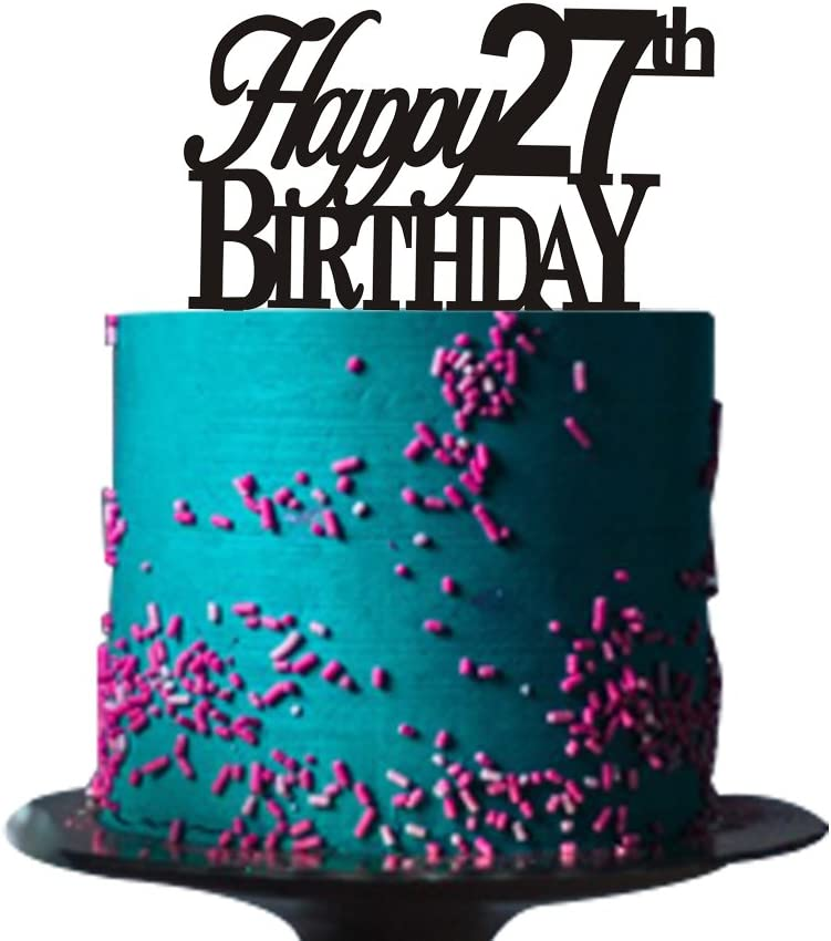 Surprising Happy 27Th Birthday Cake Topper For 27Th Birthday Cake Topper Funny Birthday Cards Online Necthendildamsfinfo