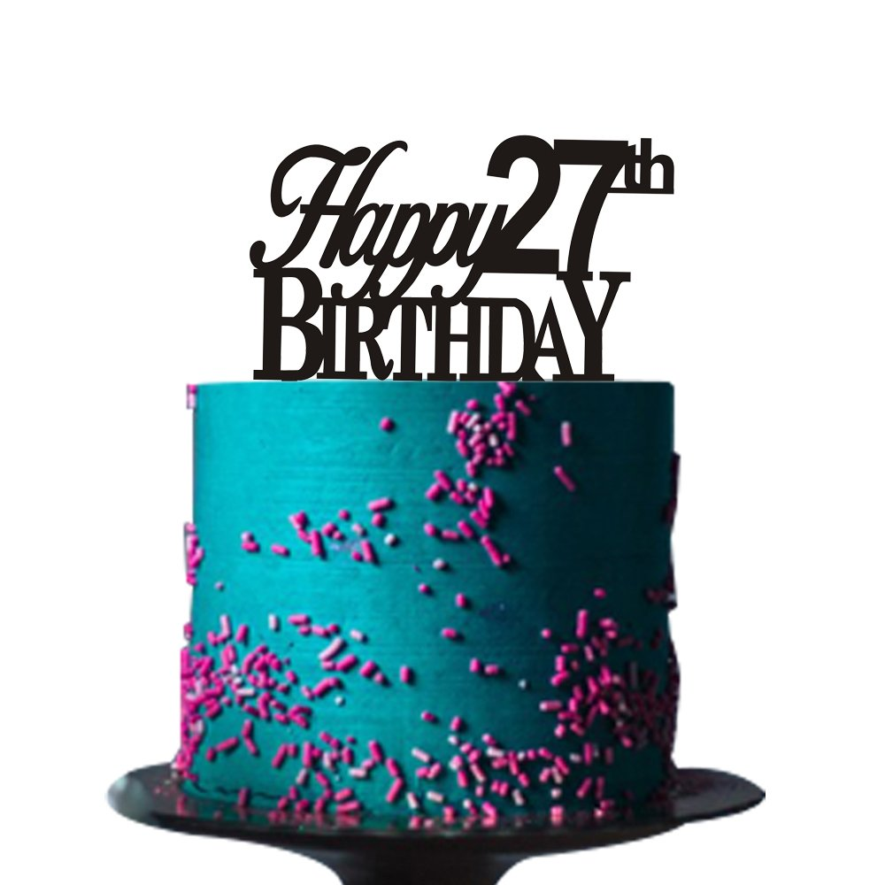 Superb Happy 27Th Birthday Cake Topper For 27Th Birthday Cake Topper Funny Birthday Cards Online Necthendildamsfinfo