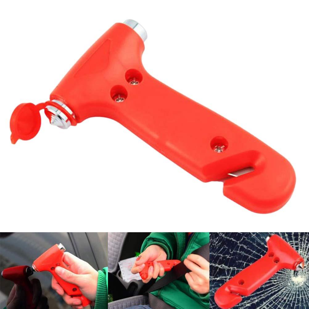 FADACAI 2 in 1 Auto Sicherheitshammer Rot Lebensrettende Flucht Nothammer Gurtschneider Notfall Sicherheitshammer Glassbreaker