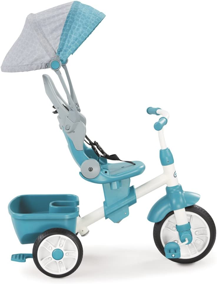 little tikes -Triciclo evolutivo 4 en 1, Color Azul (639654)