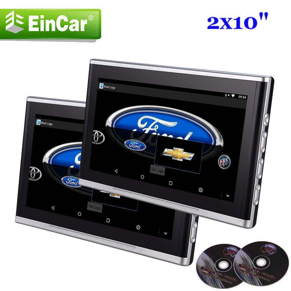 10.1インチのワイドスクリーンEincarヘッドレスト車の枕は、DVDプレーヤーオーディオビデオカーシートヘッドレスト32ビットゲームリモートコントロールIR / FMトランスミッターUSB / MS / MMC / SDのモニター B07BN9F661