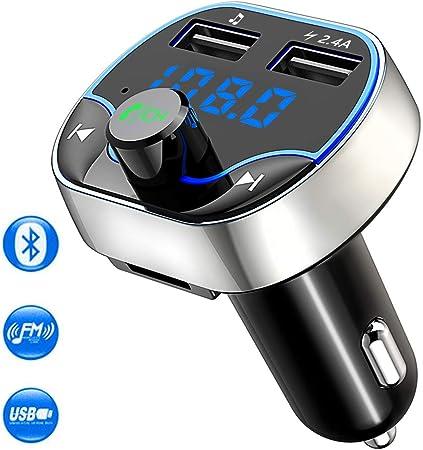 Cocoda Fm Transmitter Auto Bluetooth Kabelloser Mp3 Player Radio Adapter Car Kit Mit Dual Usb Ladeanschlüssen 5v 2 4a Und 5v 1a Unterstützt Die Freisprecheinrichtung Tf Karte Usb Stick Audio Hifi