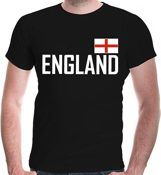 buXsbaum/® Herren T-Shirt England Great Britain Angleterre Inglaterra Inghilterra Vereinigtes K/önigreich Reise