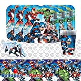 Disney Marvel Epic Avengers Superhero Childrens Birthday Party Tableware Pack Kit For 16