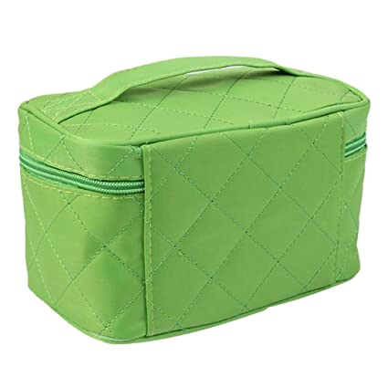 Amazon.com : Square Makeup Bag Grain Of Pure Color Cosmetic ...