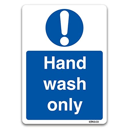 stika.co Wash only Sticker - Kitchen Safety Signs by (Hand Wash Only ...