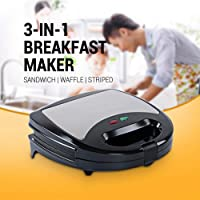 Electric Sandwich Maker Household Mini Grill Bread Waffle Pancakes Baking Machine Non-Stick Iron Pan Cake Oven 750 Watts