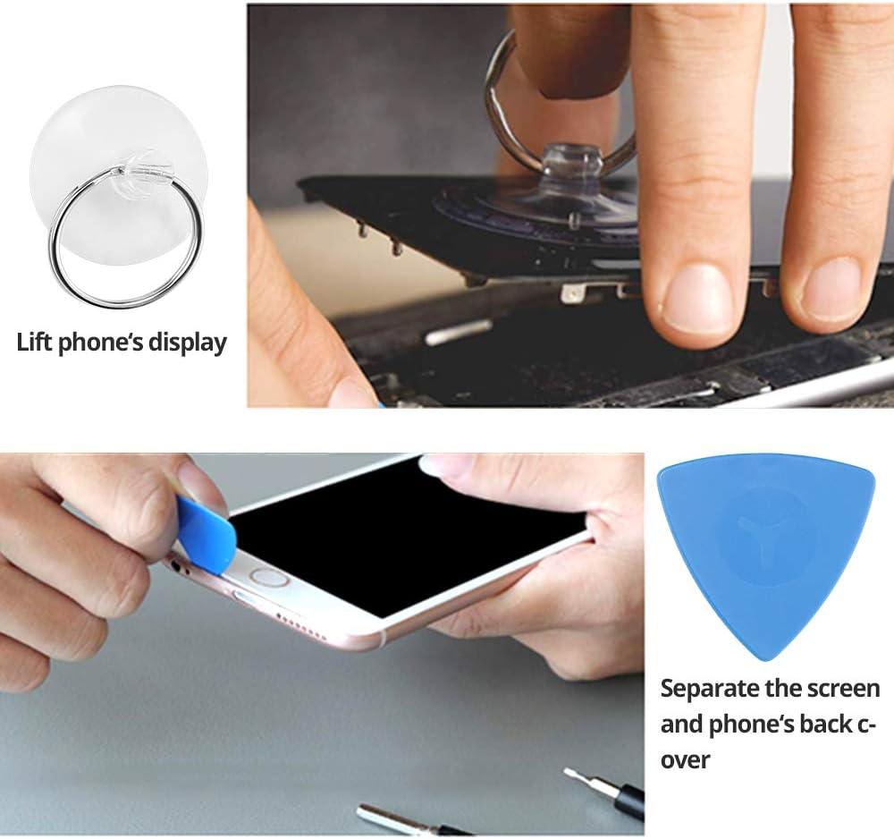 Tel/éfono TV ect Kit de Herramientas de Reparaci/ón de Bricolaje Profesional para iPhones Reloj Laptops Xboxs Gafas C/ámara 85 en 1 Juego de Destornilladores de Precisi/ón con Magnetizador