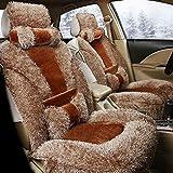 YAOHAOHAO Padded soft winter car seat cover, gray