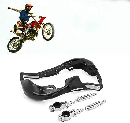 Motorcycle Dirtbike Black Handguard Brush Hand Guard For 7//8/'/' 1 1//8/'/' Handlebar