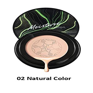 Royu Air Cushion Mushroom Head CC Cream Concealer Moisturizing Makeup BB Cream for Perfect Coverage & Moisture, Easy to Absorb Without Stimulation - Perfect Skin (True color)