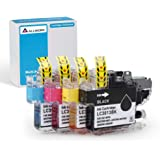 Allwork Compatible Ink Cartridges Replacement for Brother LC3013 Works with Brother MFC-J491DW MFC-J497DW MFC-J690DW MFC-J895DW Inkjet Printer4Packs (KCMY)