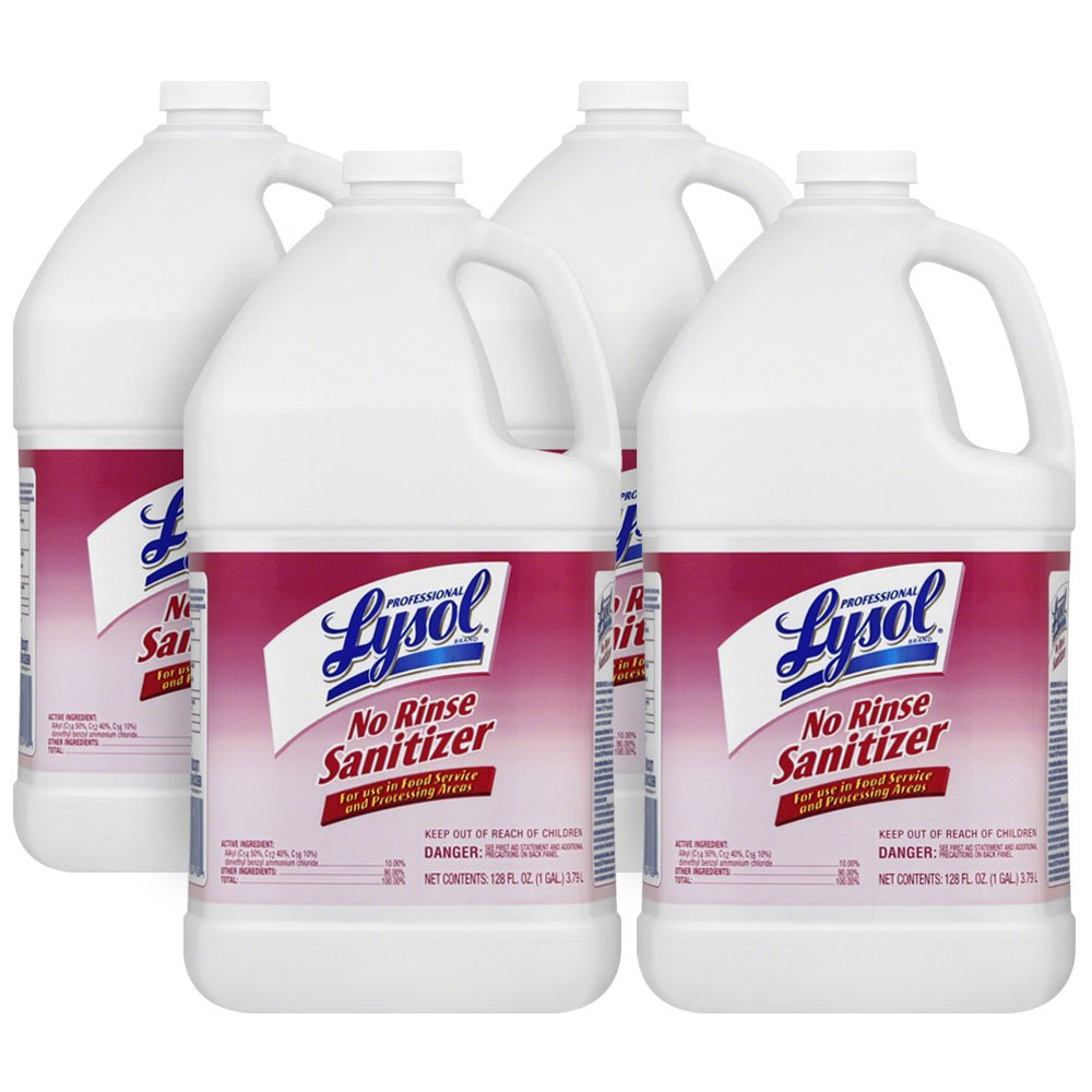 Professional Lysol No Rinse Sanitizer Concentrate, 4gal (4X1gal) by Lysol