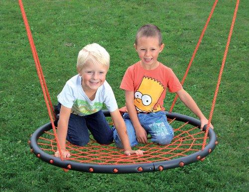 riesige Schaukel Nestschaukel Tellerschaukel mit Seil 100 cm Durchmesser TÜV/GS
