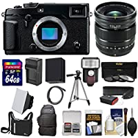 Fujifilm X-Pro2 Wi-Fi Digital Camera Body with 16mm f/1.4 WR Lens + 64GB Card + Battery & Charger + 2 Cases + Tripod + Filters + Kit