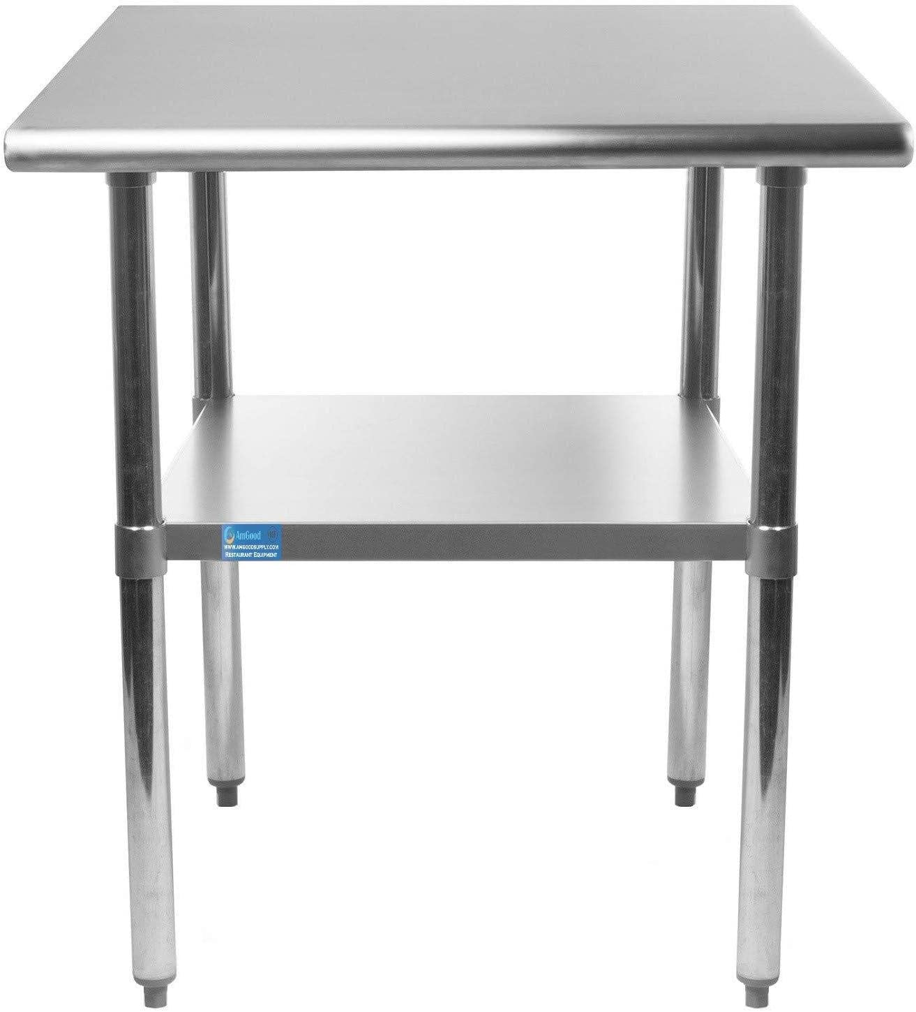 "30"" X 12"" AmGood Stainless Steel Work Table 