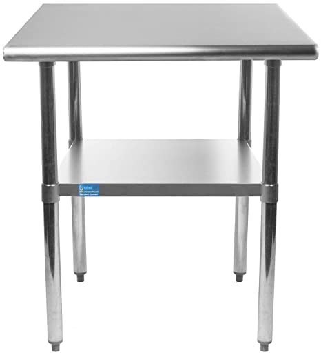 14 X 24 Stainless Steel Work Table Small Kitchen Island Metal Table For Home Or Restaurant Amazon In Home Kitchen