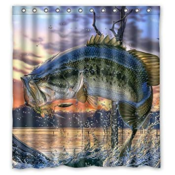 Amazon Generic Personalized Mouth Bass Colorful Bling
