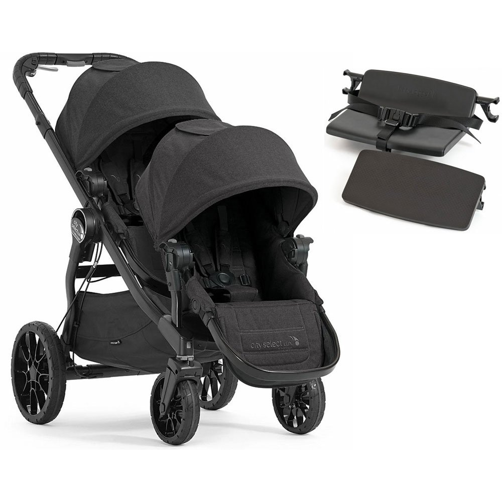 Baby Jogger City Select Lux with Second Seat Double Stroller - Granite with Bench Seat