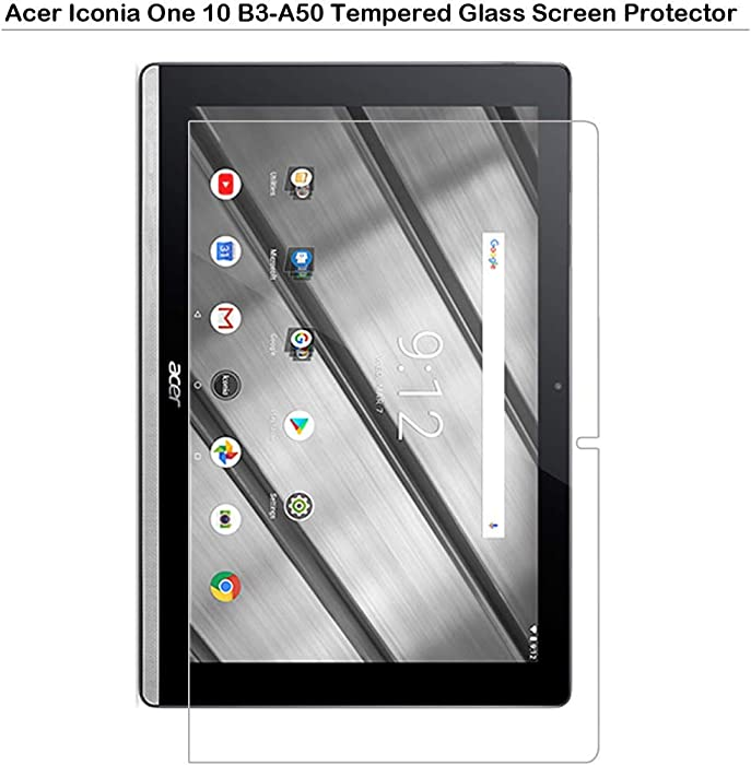 MOTONG Tempered Glass Screen Film Protector for Acer Iconia One 10 B3-A50,9H Hardness,0.3mm Thickness with Real Glass