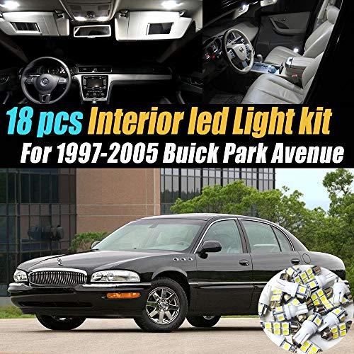 18Pc Super White 6000k Car Interior LED Light Bulb Kit Pack Compatible for 1997-2005 Buick Park -