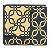Stylemaster Home Products MEMPHIS Stylemaster Reversible Bedspread, Queen, Midnight,Queen