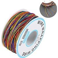 Rollo de Cable de Colores,Cable de Embalaje de Prueba de Aislamiento Cable de Cobre Estañado 30AWG P/N B-30-1000,para…